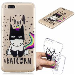 Batman Clear Varnish Soft Phone Back Cover for Xiaomi Mi A1 / Mi 5X