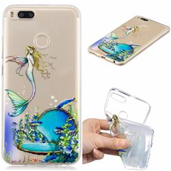 Mermaid Clear Varnish Soft Phone Back Cover for Xiaomi Mi A1 / Mi 5X