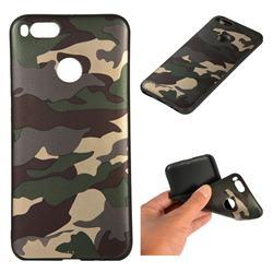 Camouflage Soft TPU Back Cover for Xiaomi Mi A1 / Mi 5X - Gold Green