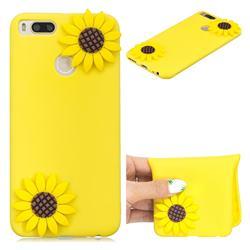 Yellow Sunflower Soft 3D Silicone Case for Xiaomi Mi A1 / Mi 5X