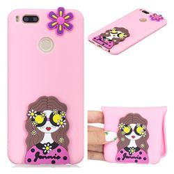 Violet Girl Soft 3D Silicone Case for Xiaomi Mi A1 / Mi 5X