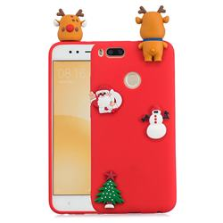 Red Elk Christmas Xmax Soft 3D Silicone Case for Xiaomi Mi A1 / Mi 5X