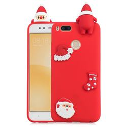 Red Santa Claus Christmas Xmax Soft 3D Silicone Case for Xiaomi Mi A1 / Mi 5X