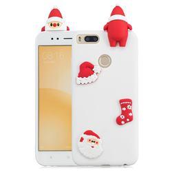 White Santa Claus Christmas Xmax Soft 3D Silicone Case for Xiaomi Mi A1 / Mi 5X