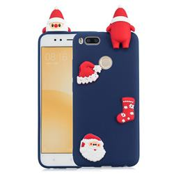 Navy Santa Claus Christmas Xmax Soft 3D Silicone Case for Xiaomi Mi A1 / Mi 5X