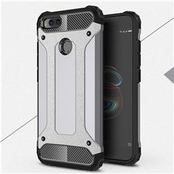 King Kong Armor Premium Shockproof Dual Layer Rugged Hard Cover for Xiaomi Mi A1 / Mi 5X - Silver Grey