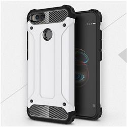 King Kong Armor Premium Shockproof Dual Layer Rugged Hard Cover for Xiaomi Mi A1 / Mi 5X - White