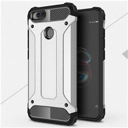 King Kong Armor Premium Shockproof Dual Layer Rugged Hard Cover for Xiaomi Mi A1 / Mi 5X - Technology Silver