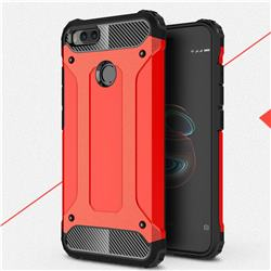 King Kong Armor Premium Shockproof Dual Layer Rugged Hard Cover for Xiaomi Mi A1 / Mi 5X - Big Red