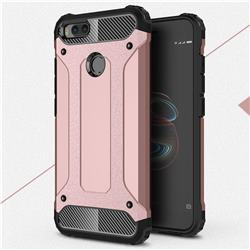 King Kong Armor Premium Shockproof Dual Layer Rugged Hard Cover for Xiaomi Mi A1 / Mi 5X - Rose Gold