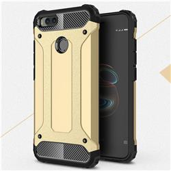 King Kong Armor Premium Shockproof Dual Layer Rugged Hard Cover for Xiaomi Mi A1 / Mi 5X - Champagne Gold
