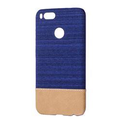 Canvas Cloth Coated Plastic Back Cover for Xiaomi Mi A1 / Mi 5X- Dark Blue