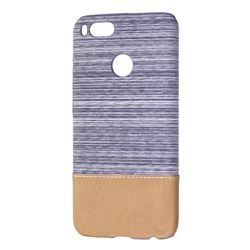 Canvas Cloth Coated Plastic Back Cover for Xiaomi Mi A1 / Mi 5X- Light Grey