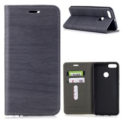 Tree Bark Pattern Automatic suction Leather Wallet Case for Xiaomi Mi A1 / Mi 5X- Gray