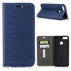 Tree Bark Pattern Automatic suction Leather Wallet Case for Xiaomi Mi A1 / Mi 5X- Blue