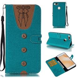 Ladies Bow Clothes Pattern Leather Wallet Phone Case for Xiaomi Mi A1 / Mi 5X - Green