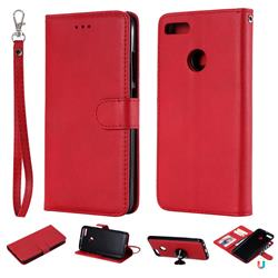 Retro Greek Detachable Magnetic PU Leather Wallet Phone Case for Xiaomi Mi A1 / Mi 5X - Red