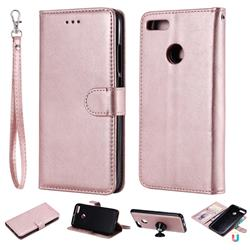 Retro Greek Detachable Magnetic PU Leather Wallet Phone Case for Xiaomi Mi A1 / Mi 5X - Rose Gold