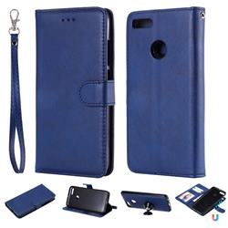 Retro Greek Detachable Magnetic PU Leather Wallet Phone Case for Xiaomi Mi A1 / Mi 5X - Blue