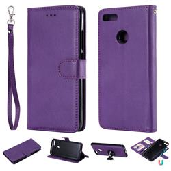 Retro Greek Detachable Magnetic PU Leather Wallet Phone Case for Xiaomi Mi A1 / Mi 5X - Purple