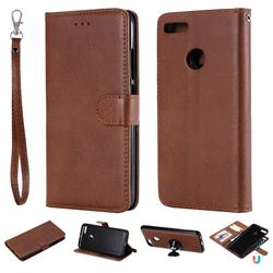 Retro Greek Detachable Magnetic PU Leather Wallet Phone Case for Xiaomi Mi A1 / Mi 5X - Brown