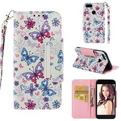 Colored Butterfly Big Metal Buckle PU Leather Wallet Phone Case for Xiaomi Mi A1 / Mi 5X