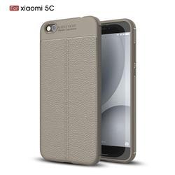 Luxury Auto Focus Litchi Texture Silicone TPU Back Cover for Xiaomi Mi 5c - Gray