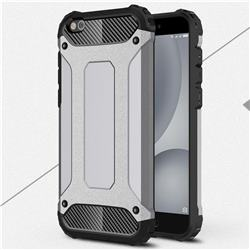 King Kong Armor Premium Shockproof Dual Layer Rugged Hard Cover for Xiaomi Mi 5c - Silver Grey