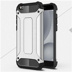 King Kong Armor Premium Shockproof Dual Layer Rugged Hard Cover for Xiaomi Mi 5c - Technology Silver