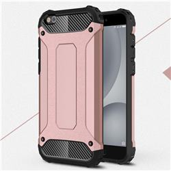 King Kong Armor Premium Shockproof Dual Layer Rugged Hard Cover for Xiaomi Mi 5c - Rose Gold