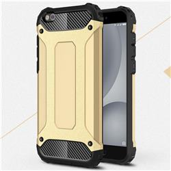 King Kong Armor Premium Shockproof Dual Layer Rugged Hard Cover for Xiaomi Mi 5c - Champagne Gold