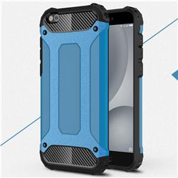 King Kong Armor Premium Shockproof Dual Layer Rugged Hard Cover for Xiaomi Mi 5c - Sky Blue