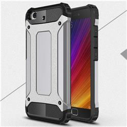 King Kong Armor Premium Shockproof Dual Layer Rugged Hard Cover for Xiaomi Mi 5s - Silver Grey