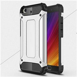 King Kong Armor Premium Shockproof Dual Layer Rugged Hard Cover for Xiaomi Mi 5s - Technology Silver