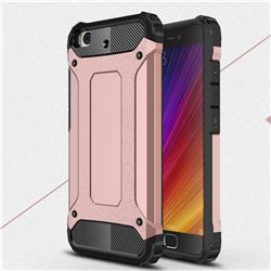 King Kong Armor Premium Shockproof Dual Layer Rugged Hard Cover for Xiaomi Mi 5s - Rose Gold