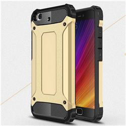 King Kong Armor Premium Shockproof Dual Layer Rugged Hard Cover for Xiaomi Mi 5s - Champagne Gold