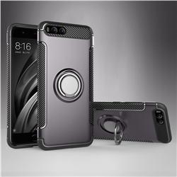 Armor Anti Drop Carbon PC + Silicon Invisible Ring Holder Phone Case for Xiaomi Mi 6 Mi6 - Grey