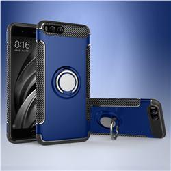 Armor Anti Drop Carbon PC + Silicon Invisible Ring Holder Phone Case for Xiaomi Mi 6 Mi6 - Sapphire