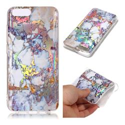Gold Plating Marble Pattern Bright Color Laser Soft TPU Case for Xiaomi Mi 6 Mi6