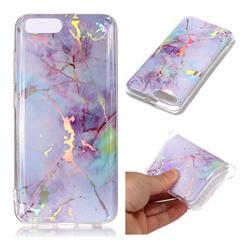 Pink Purple Marble Pattern Bright Color Laser Soft TPU Case for Xiaomi Mi 6 Mi6