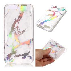 White Marble Pattern Bright Color Laser Soft TPU Case for Xiaomi Mi 6 Mi6