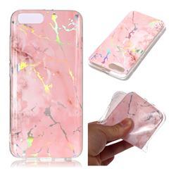Powder Pink Marble Pattern Bright Color Laser Soft TPU Case for Xiaomi Mi 6 Mi6