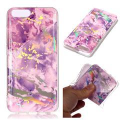 Purple Marble Pattern Bright Color Laser Soft TPU Case for Xiaomi Mi 6 Mi6
