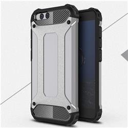 King Kong Armor Premium Shockproof Dual Layer Rugged Hard Cover for Xiaomi Mi 6 Mi6 - Silver Grey