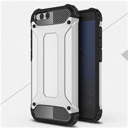 King Kong Armor Premium Shockproof Dual Layer Rugged Hard Cover for Xiaomi Mi 6 Mi6 - Technology Silver