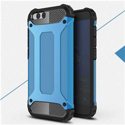 King Kong Armor Premium Shockproof Dual Layer Rugged Hard Cover for Xiaomi Mi 6 Mi6 - Sky Blue