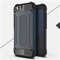 King Kong Armor Premium Shockproof Dual Layer Rugged Hard Cover for Xiaomi Mi 6 Mi6 - Navy