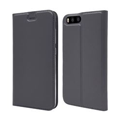 Ultra Slim Card Magnetic Automatic Suction Leather Wallet Case for Xiaomi Mi 6 Mi6 - Star Grey