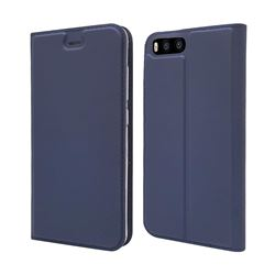 Ultra Slim Card Magnetic Automatic Suction Leather Wallet Case for Xiaomi Mi 6 Mi6 - Royal Blue