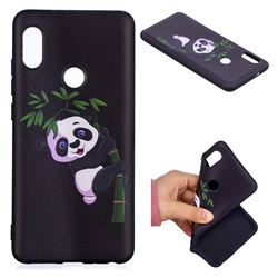 Bamboo Panda 3D Embossed Relief Black Soft Back Cover for Xiaomi Mi A2 (Mi 6X)